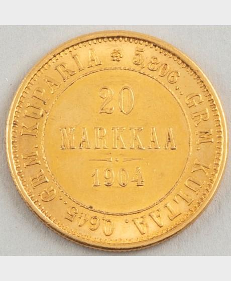 Kultaraha, Suomi 20 mk 1904