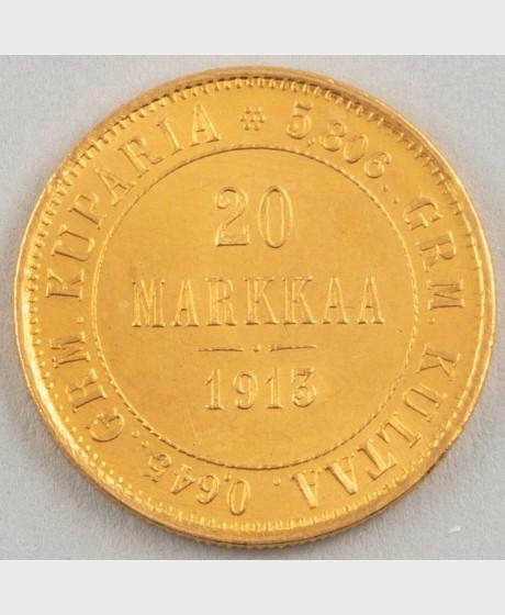 Kultaraha, Suomi 20 mk 1913