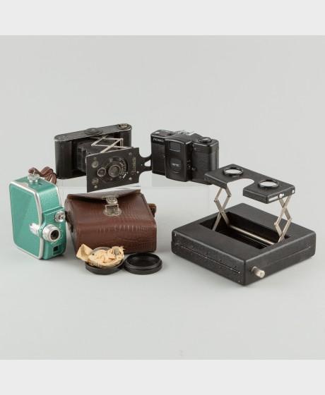 Kameroita ym., 4 kpl