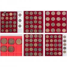 Erä kolikoita, noin 105 kpl, Venäjä 5 & 10 kopeekka, 1700-1900–luku