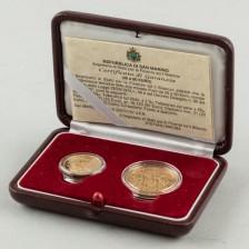 Kultarahoja, 2 kpl San Marino 20 € & 50 € 2007