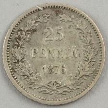 25 penniä 1876