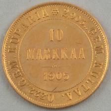 Kultaraha, Suomi 10 mk 1905