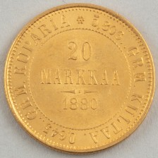 Kultaraha, Suomi 20 mk 1880