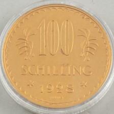 Kultaraha, 100 Schilling, Itävalta 1928