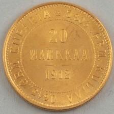 Kultaraha, Suomi 20 mk 1912 L