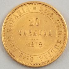 Kultaraha, Suomi 20 mk 1878