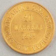 Kultaraha, Suomi 20 mk 1891