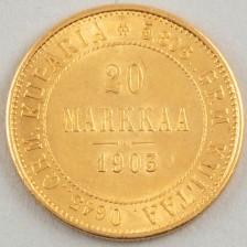 Kultaraha, Suomi 20 mk 1903