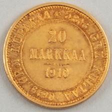 Kultaraha, Suomi 20 mk 1910
