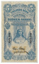 Seteli, Suomi 5 mk 1897