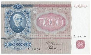 Seteli, Suomi 5000 mk 1939