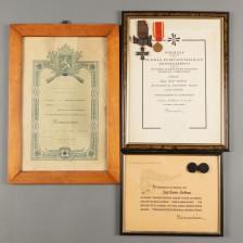Dokumentteja ja kunniamerkkejä, 3 kpl