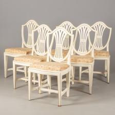 Kustavilaiset tuolit, 6 kpl