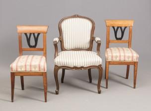 Tuolipari ja nojatuoli