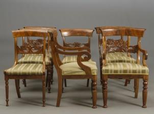 Nojatuolipari ja tuoleja, 6 kpl