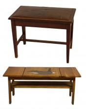 Sohvapöytä ja pianopenkki