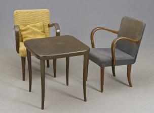 Nojatuoli pari ja pöytä