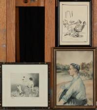 Kaarlo Kari, etsaus ja akvarelli