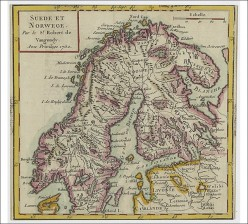 Karttoja, 2 kpl: Ruotsin ja Norjan kartta sekä Skandinavian kartta