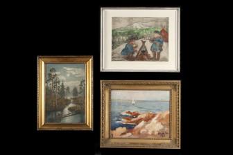 J. Ruokokoski ja maalauksia, 2 kpl