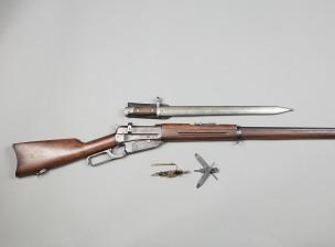Winchester kivääri m/1895, pistin ja puhistusvälineet