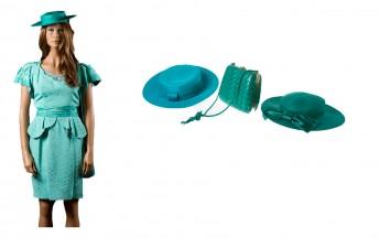 Mekko, hattuja, 2 kpl ja laukku