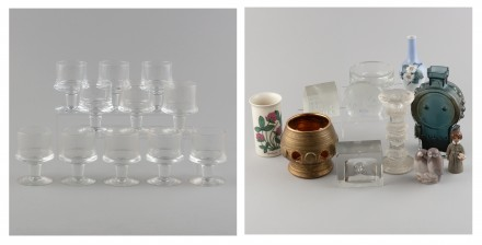 Erä lasia ja posliinia