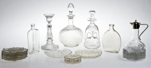 Erä kristallia ja lasia