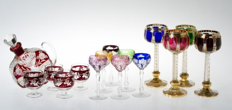 Karahvi ja laseja, 4 kpl ja pikareita 6+4