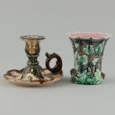 Maljakko ja kynttilänjalka