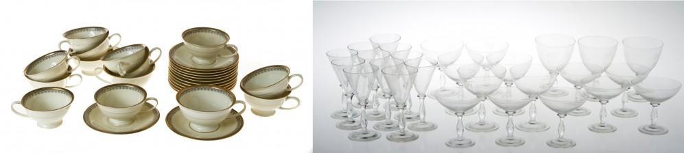 Erä laseja ja kahvikuppeja, 10 kpl