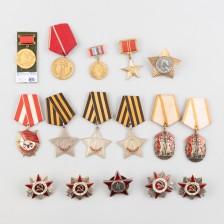 Erä neuvostoliittolaisia kunniamerkkejä, 16 kpl