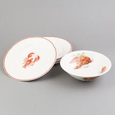 Kulho ja lautasia, 5 kpl