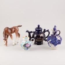 Kannuja, 3 kpl ja figuriini