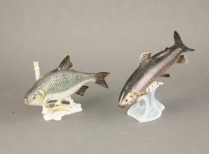 Figuriinejä, 2 kpl (Karppi ja kirjolohi)