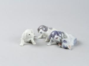 Figuriinejä, 3 kpl, Koiranpentuja