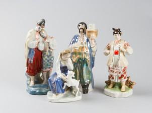 Erä figuriineja, 4 kpl