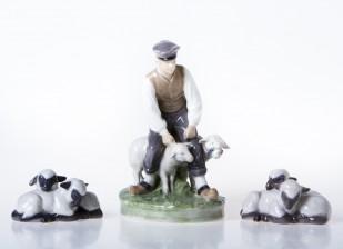 Figuriinejä, 3 kpl, Lammas- ja karitsa-aiheita