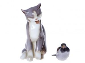 Figuriinejä, 2 kpl, Kissa ja Varpunen