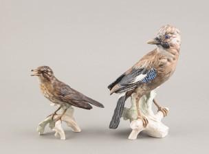 Figuriinejä, 2 kpl, Laulurastas ja Närhi