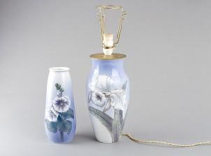 Maljakko ja lamppu