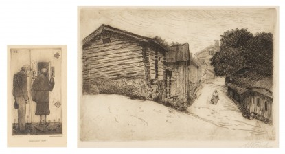 A.W. Finch ja Hugo Simberg
