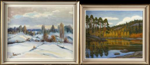 M. Halkilahti ja maalaus