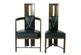 Nojatuoleja, 6 kpl ja tuoleja, 5 kpl