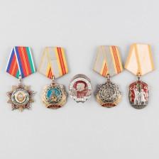 Erä kunniamerkkejä, Neuvostoliitto, 5 kpl