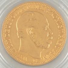 Kultaraha, Saksa 20 Mark 1872 C