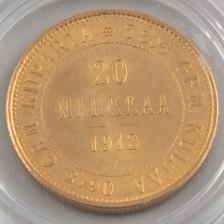 Kultaraha, Suomi 20 mk 1912