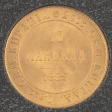 Kultaraha, Suomi 10 mk 1882