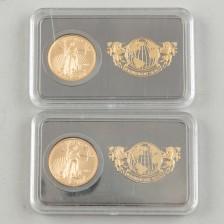 Kultarahoja, 2 kpl, USA 5 $ 2016-2017